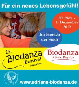 [DE] Biodanza Schule Bayern, München: 15. Biodanza-Festival - im Herzen der Stadt @ Biodanza-Zentrum | München | Bayern | Deutschland